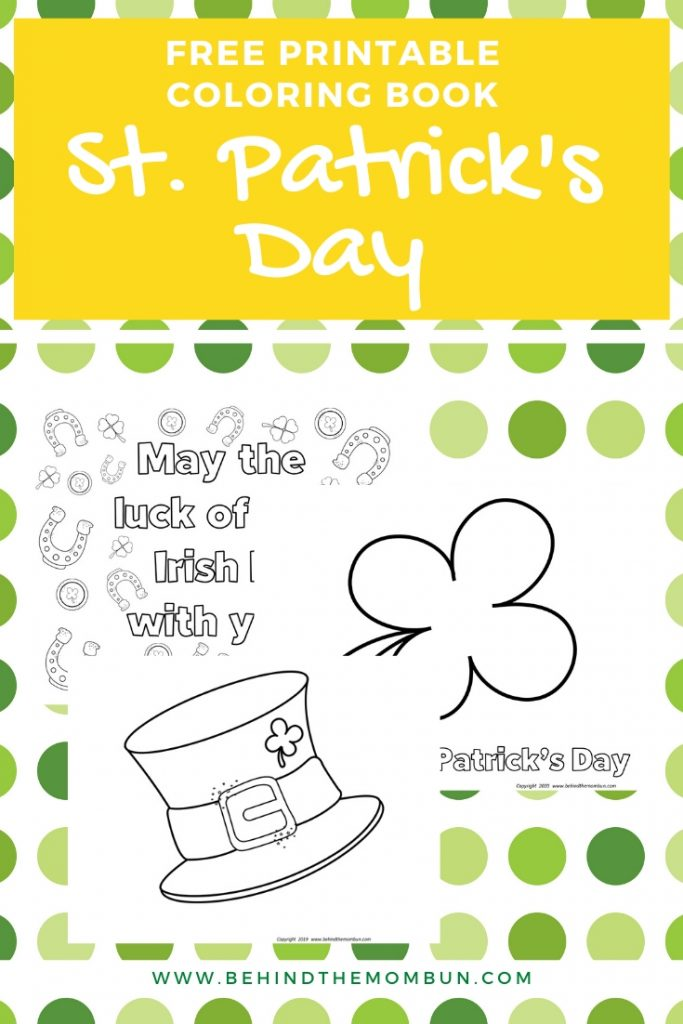 Three St. Patrick's Day coloring pages.