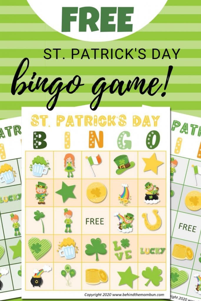 three st. patrick's day bingo games
