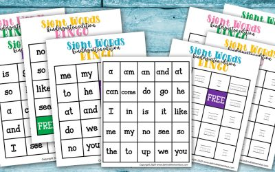 Sight Word Bingo for Kindergarten