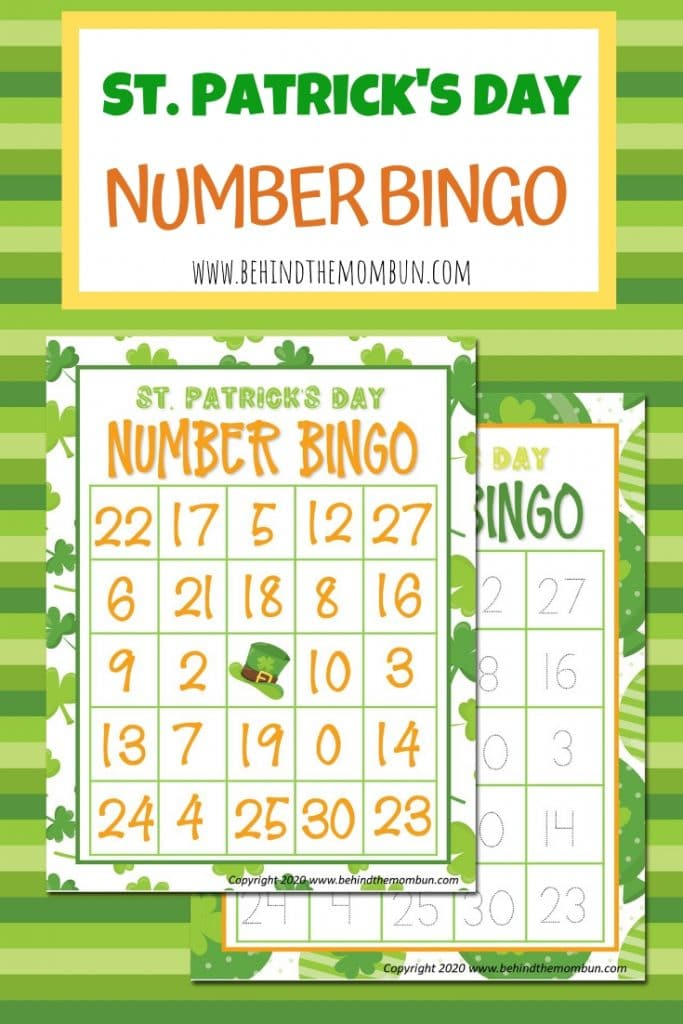 Number Bingo for St. Patrick's Day