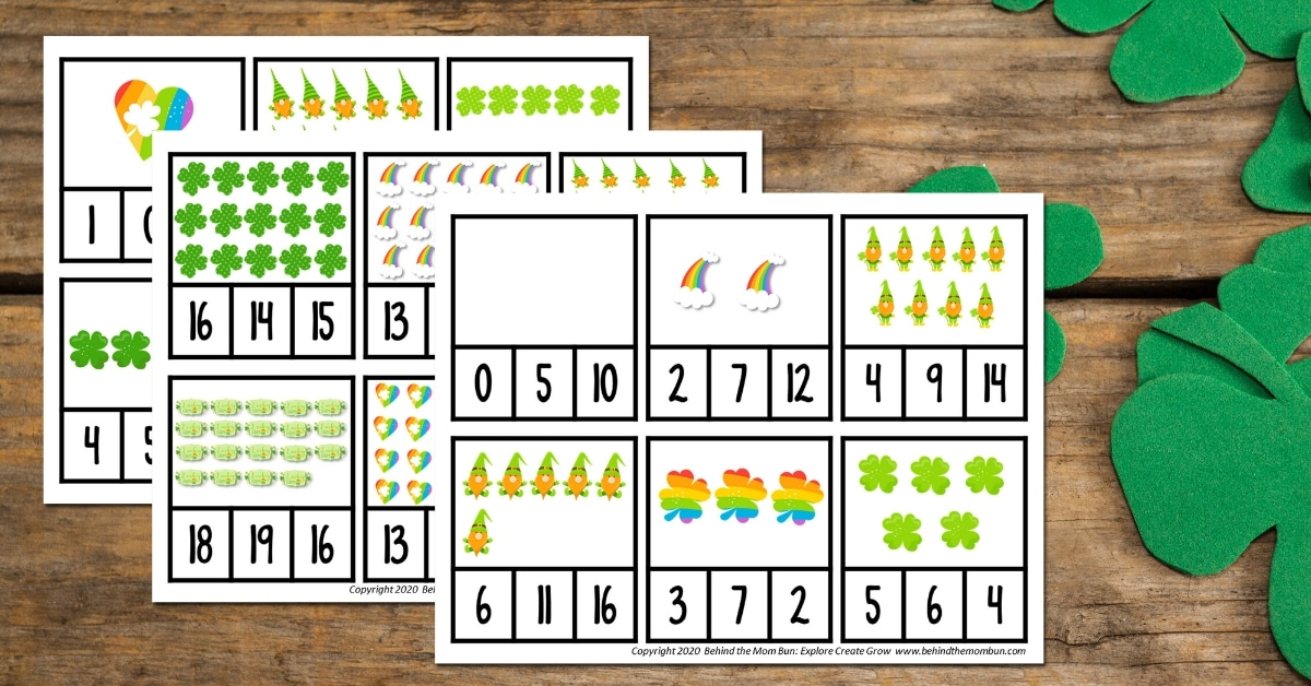 Counting Activity for St. Patrick's Day