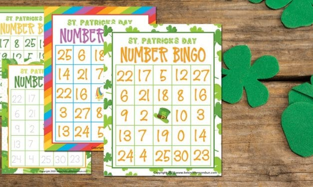 Free St. Patrick's Day Bingo with Numbers