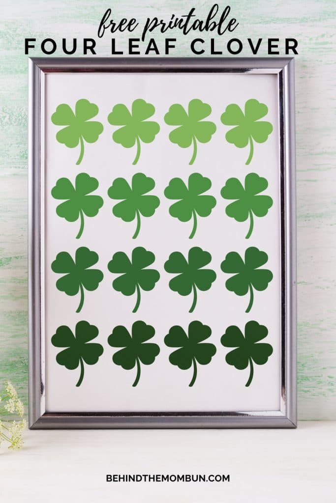 four leaf clover free printable wall art