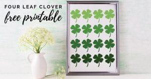 four leaf clover printable mock up