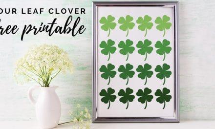 Four Leaf Clover Printable-FREE!