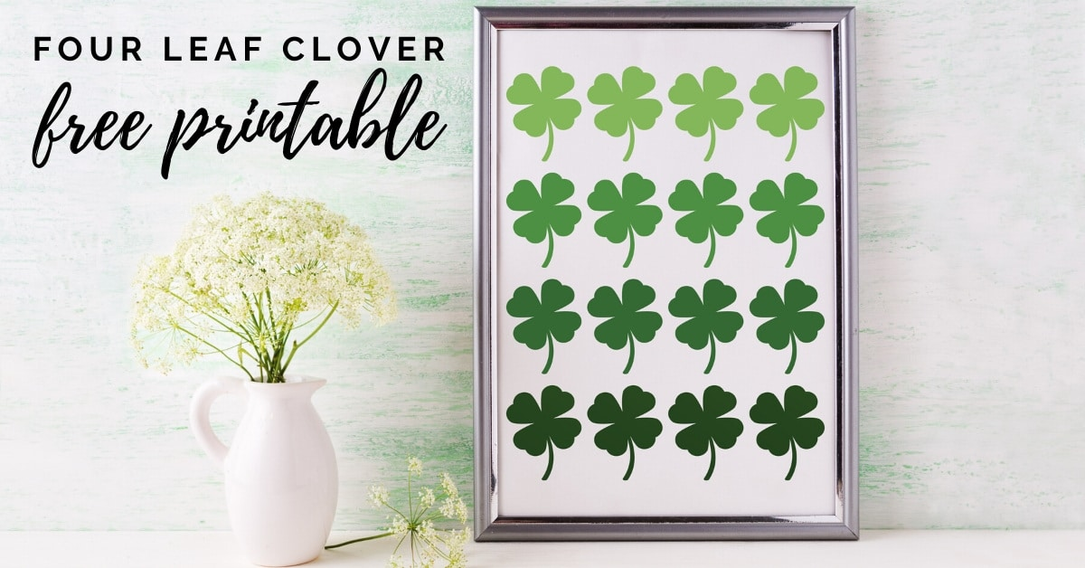 Four Leaf Clover Printable-FREE!