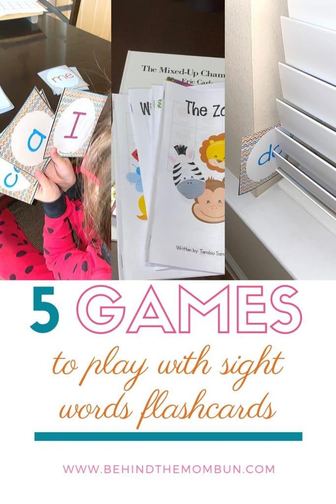 kindergarten sight words flash cards
