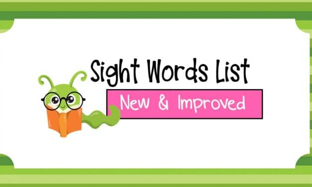 A New Sight Words List-Free Printable