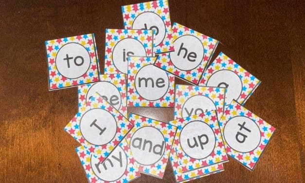 Kindergarten Sight Word Match Game
