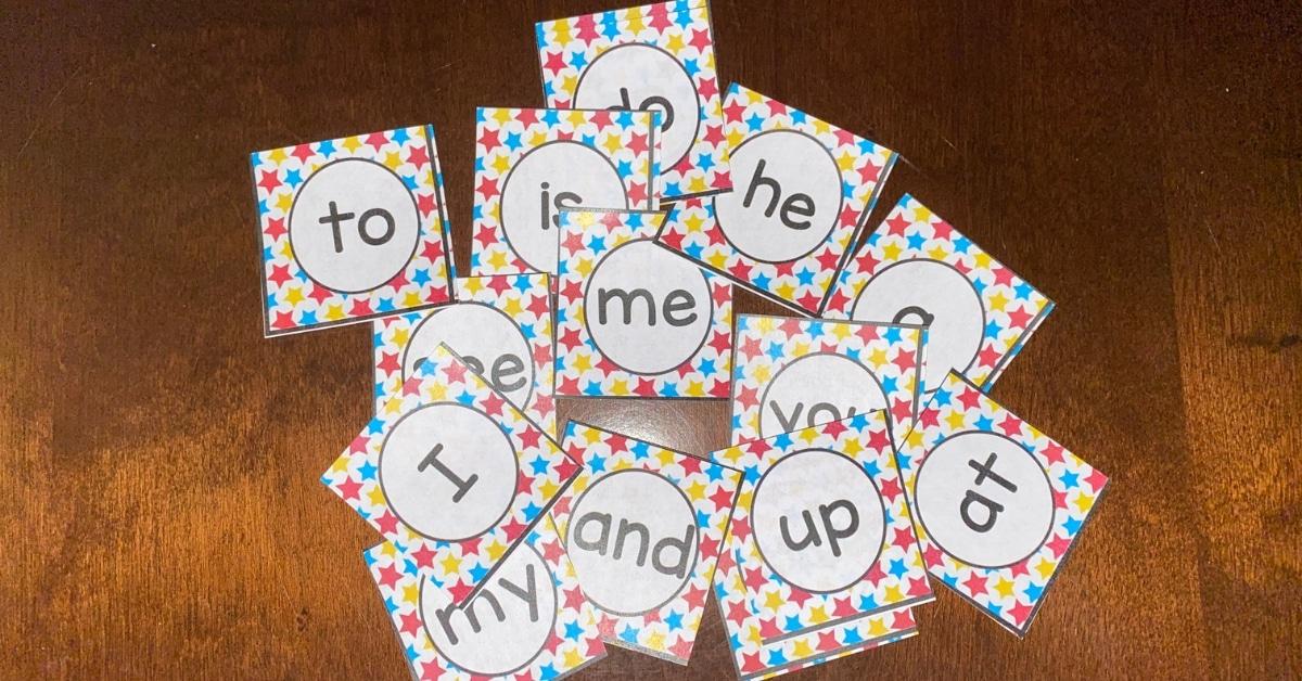 Kindergarten Sight Word Match Game