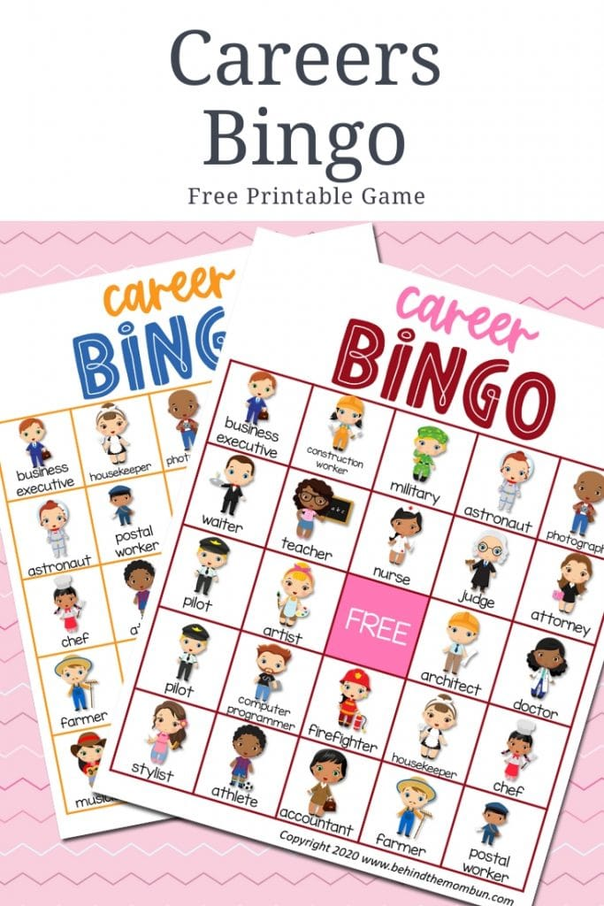 careers bingo game