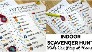 Scavenger Search! Indoor Scavenger Hunt for Kids