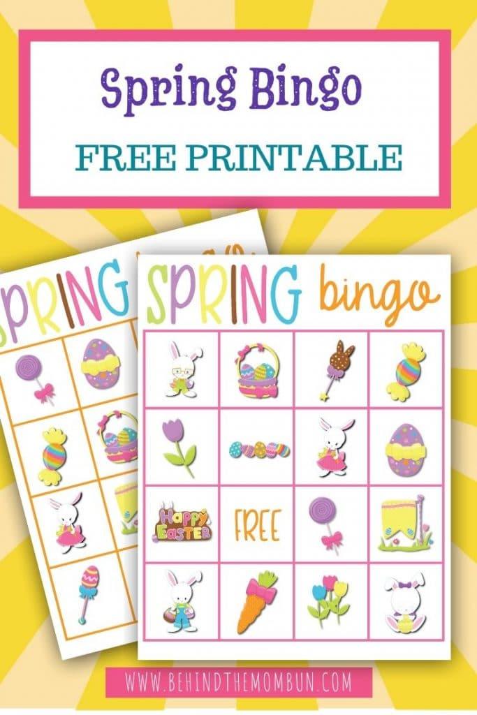 spring bingo game for kids