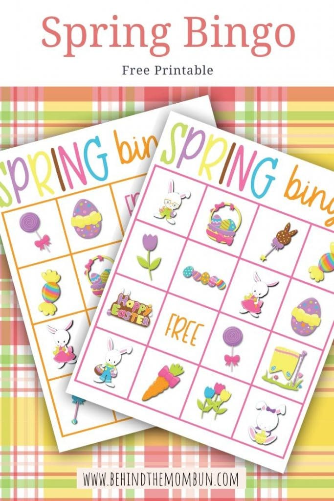 spring bingo games for kids