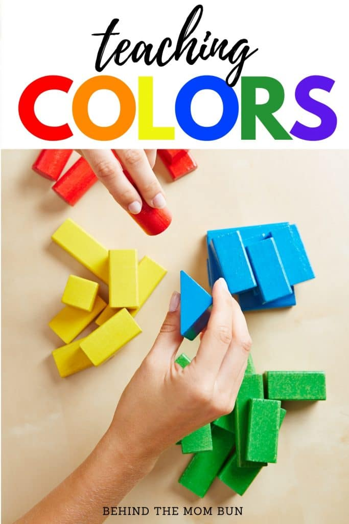 teaching colors to preschool