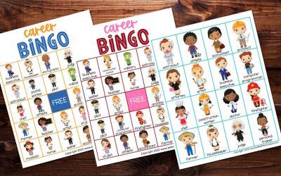 Careers Bingo Game for Kids