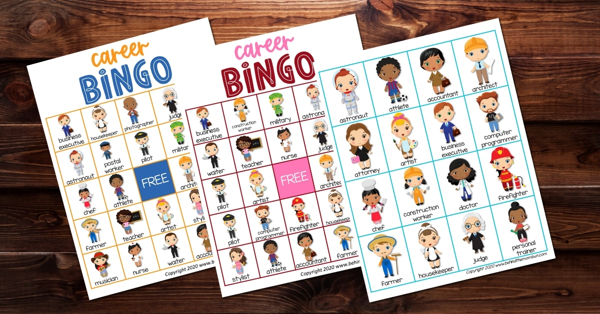 Careers Bingo Game for Kids