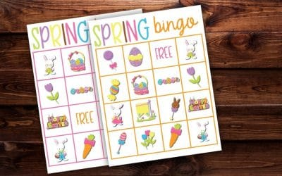 Spring Bingo Free Printable Game