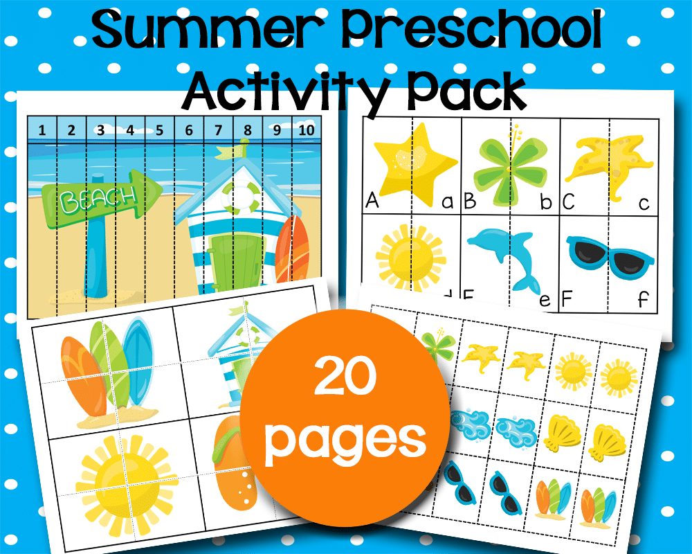 Free Printable Preschool Activities for Summer