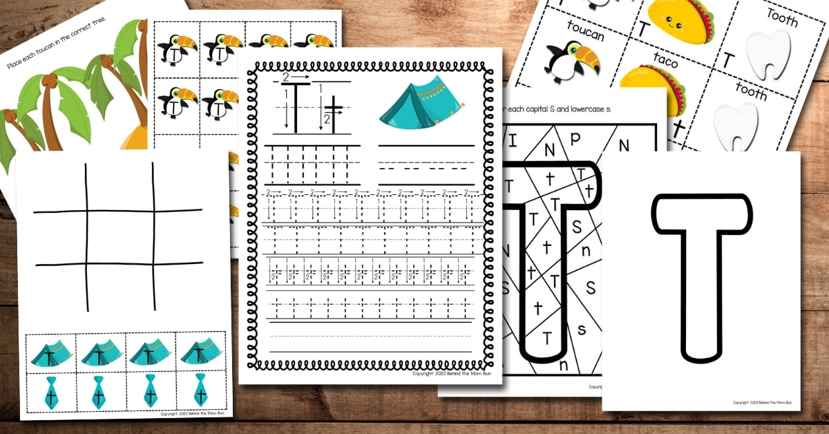 Letter T Worksheets and Activities