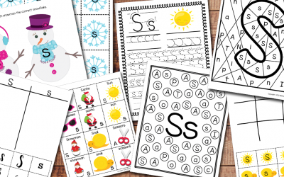 Letter S Worksheets-Free printable Pack