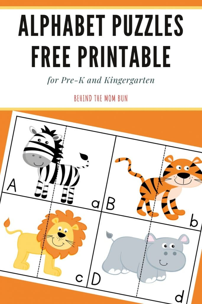 wild animal letter cards