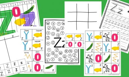 Letter Z Worksheets for kindergarten