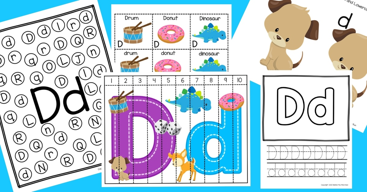 Letter D Worksheets For Pre-K and Kindergarten
