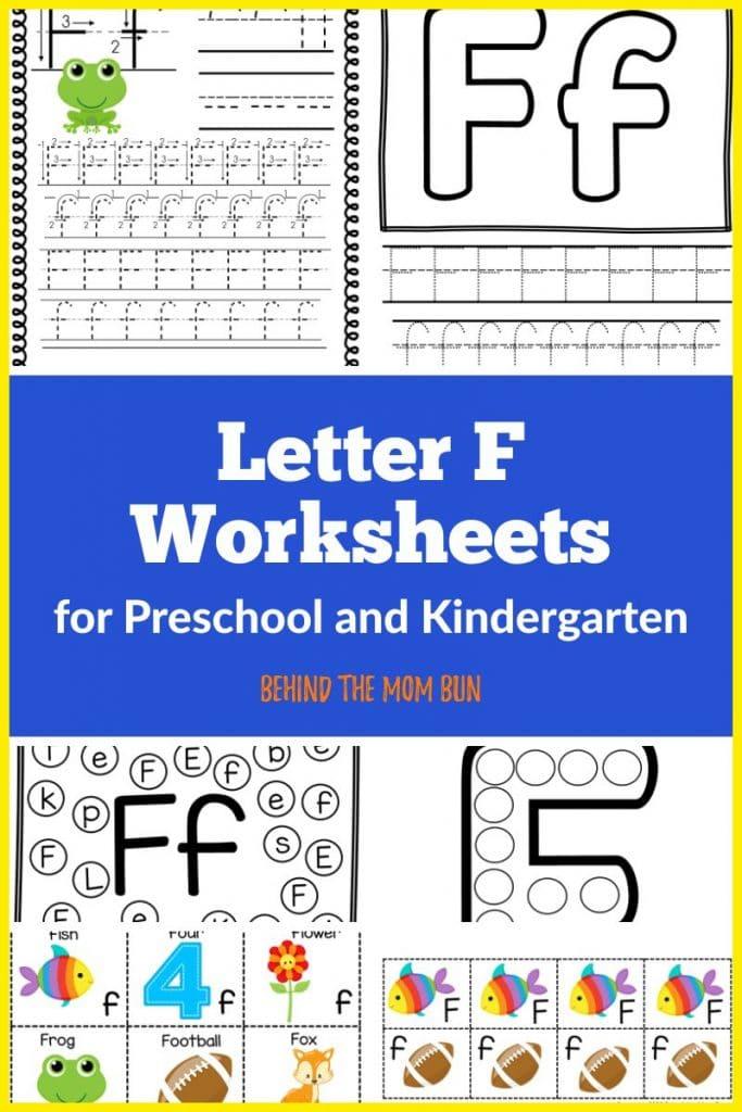 Letter F Worksheets
