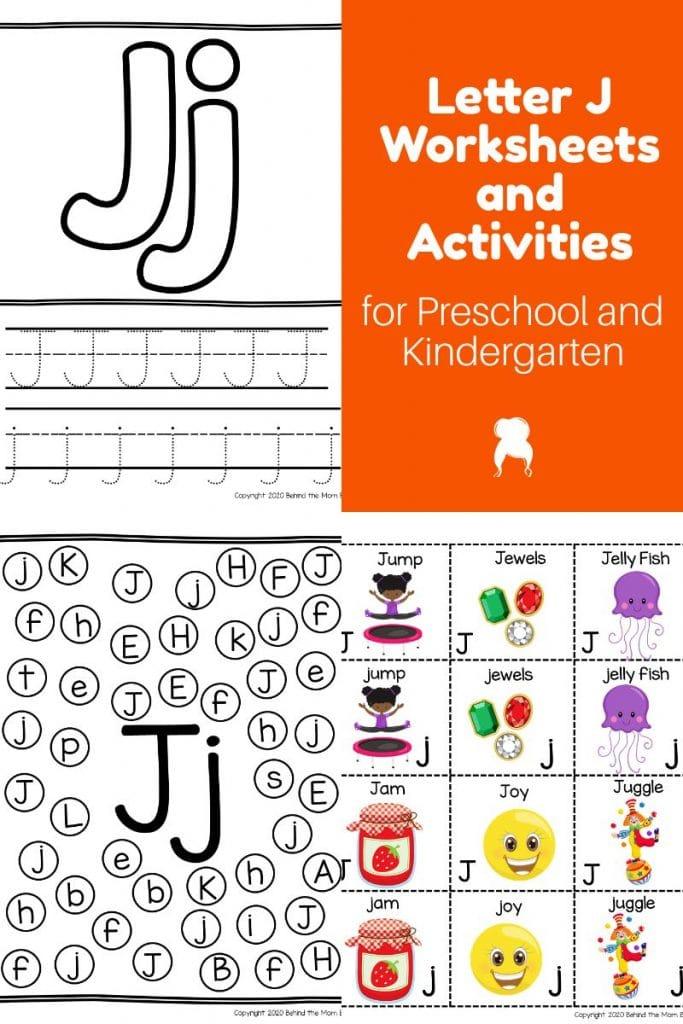 Letter J worksheets