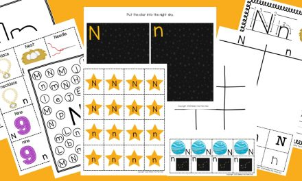 Letter N Worksheets: Free Printable Pack
