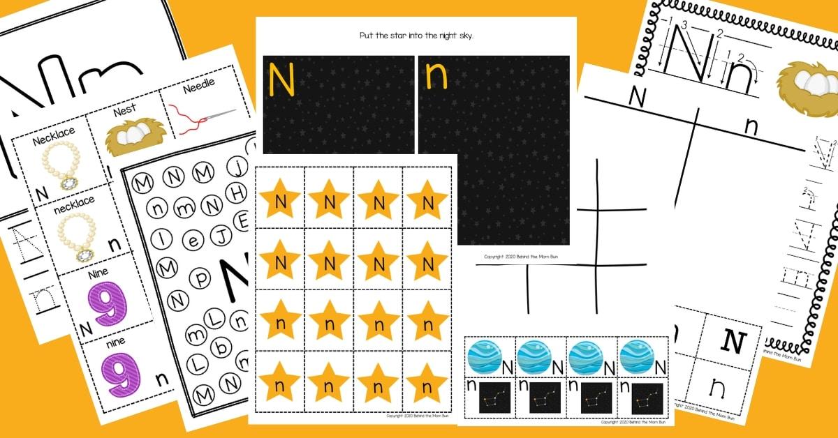 Letter N Worksheets: Free Printable Pack