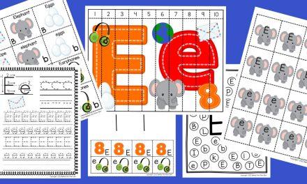 Letter E Worksheets: Free Printable Pack
