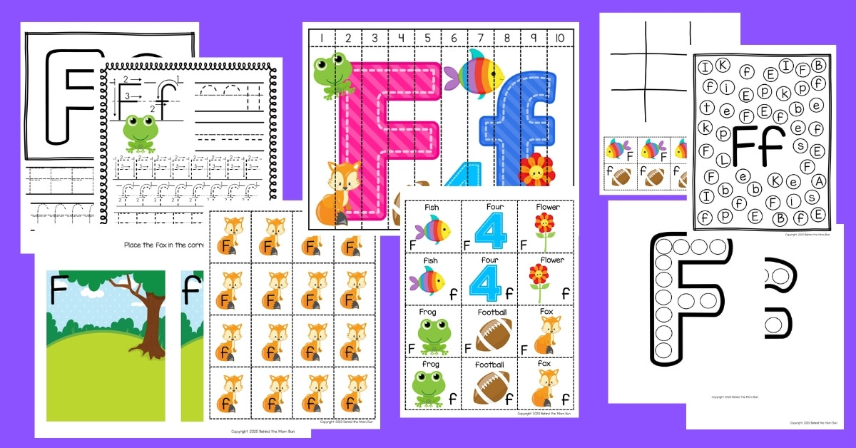 Letter F Worksheets for Free