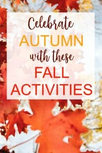 fall activities to celebrate autumn