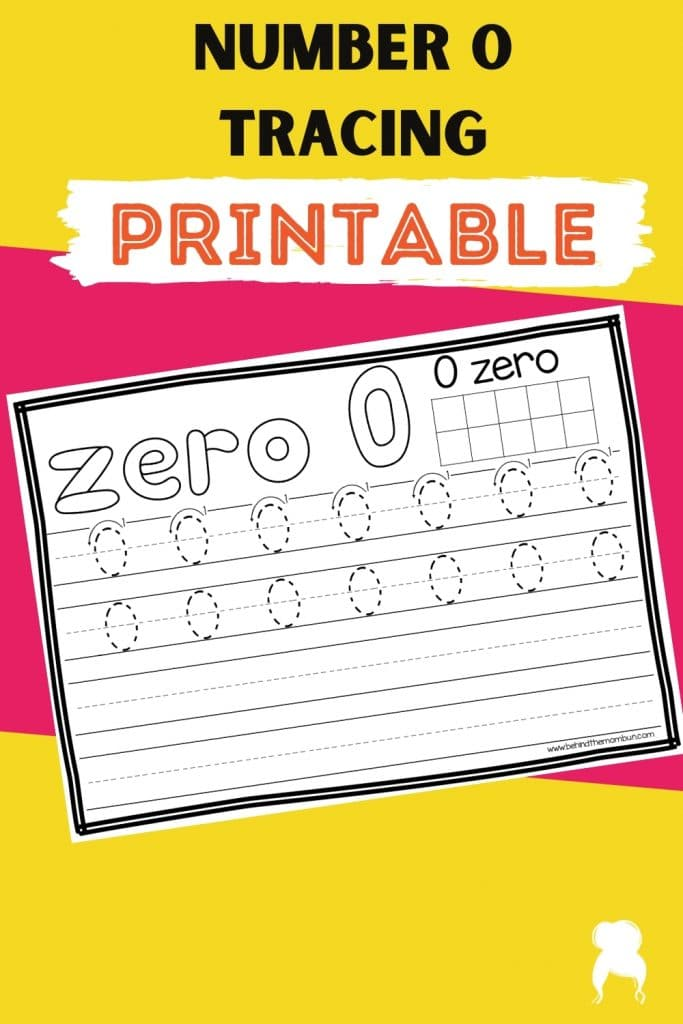 number zero tracing page