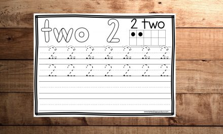 Tracing Number 2 Worksheet