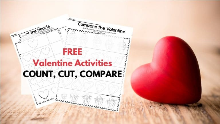 Valentine Cut and Compare Printable-FREE