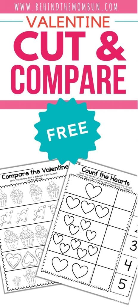 cut and compare math printable for preschool