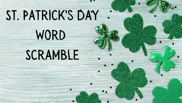 St Patrick's Day Word Scramble-Free Printable