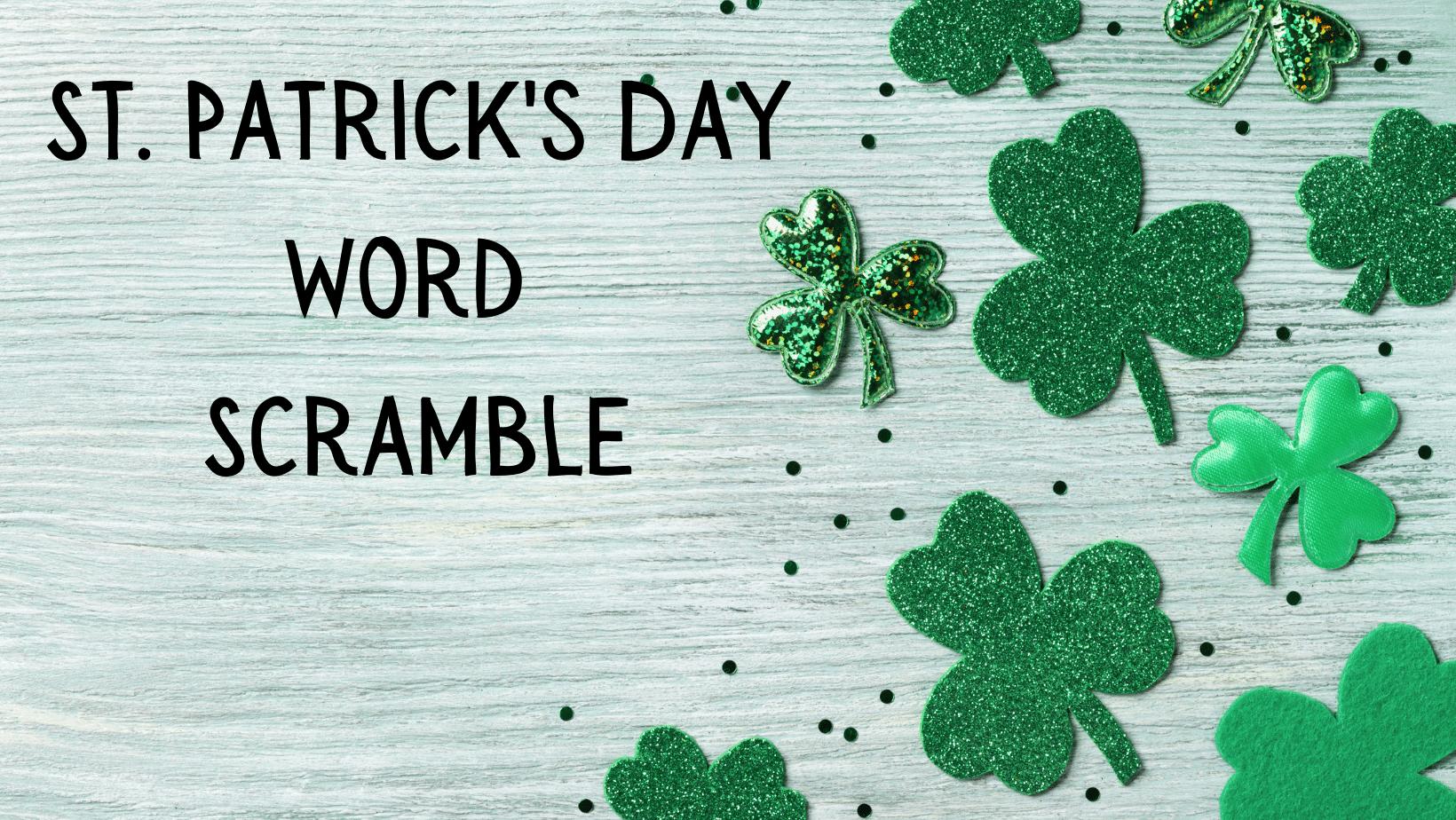 St Patrick's Day Word Scramble-Free Printable