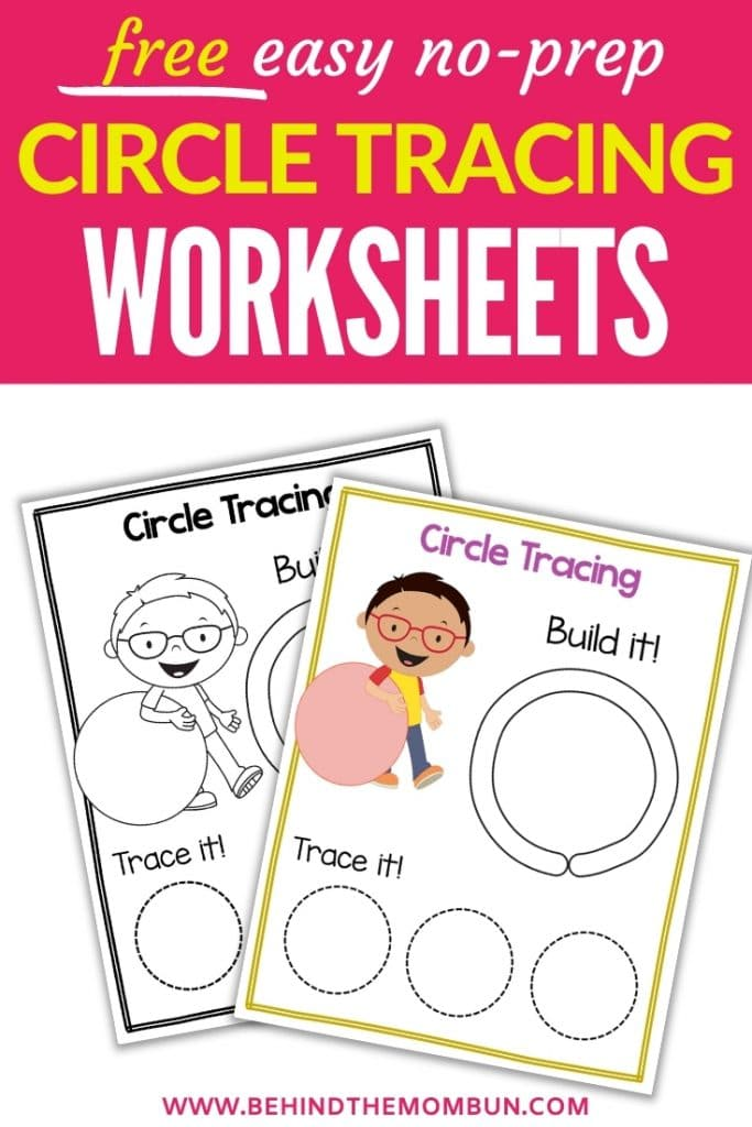 circle tracing worksheets