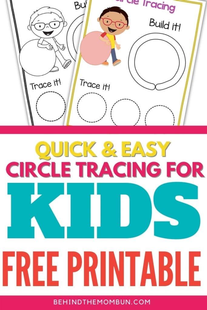 circle tracing worksheet